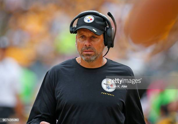 Todd Haley of the Pittsburgh Steelers in action against the Jacksonville Jaguars on October 8 2017 at Heinz Field in Pittsburgh Pennsylvania