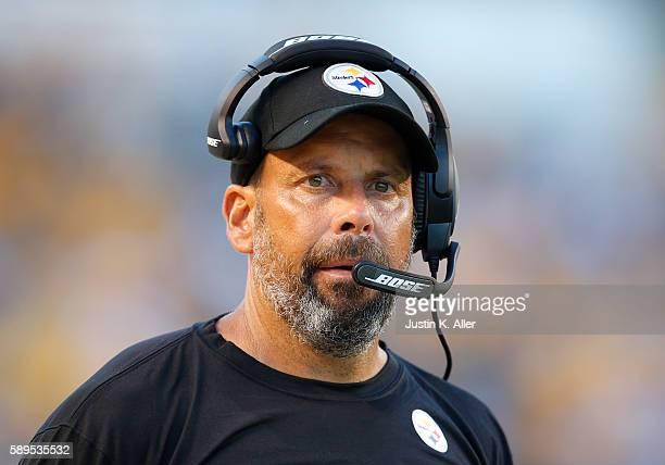 Todd Haley of the Pittsburgh Steelers in action during the game against the Detroit Lions on August 12 2016 at Heinz Field in Pittsburgh Pennsylvania