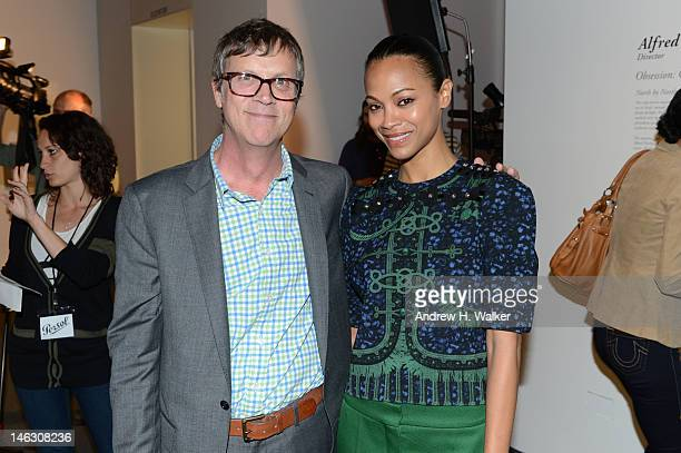 Todd Haynes and actress Zoe Saldana attend the Persol Magnificent Obsessions exhibition honoring Arianne Phillips, Patricia Clarkson, and Todd Haynes...
