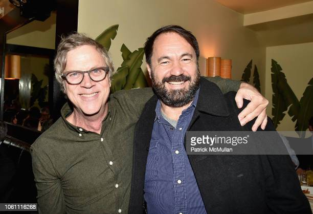 Todd Haynes and Alfonso Gonzolas attend The Andy Warhol Museum's Annual NYC Dinner at Indochine on November 12 2018 in New York New York