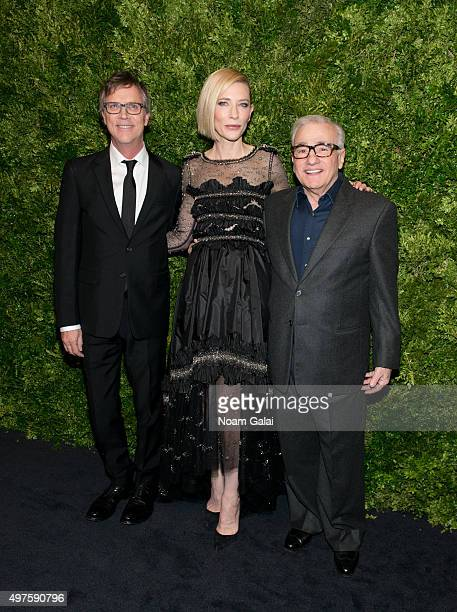 Todd Haynes Cate Blanchett and Martin Scorsese attend the 8th Annual Museum Of Modern Art Film Benefit honoring Cate Blanchett at Museum of Modern...