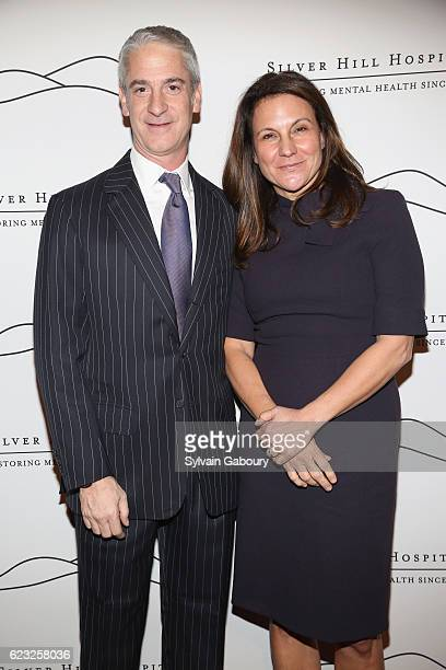 Todd Hollander and Audrey Zinman attend Silver Hill Hospital 2016 Giving Hope Gala at Cipriani 42nd Street on November 14 2016 in New York City