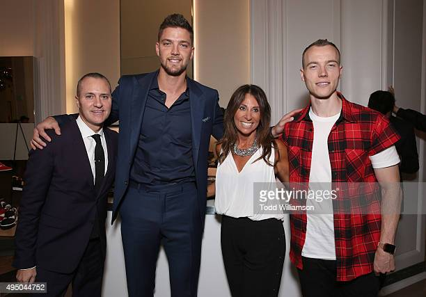 Todd Hoyles, Chandler Parsons, Beth Moskowitz and DJ Skee attend a Del Toro Chandler Parsons Event at Saks Fifth Avenue Beverly Hills on October 30,...