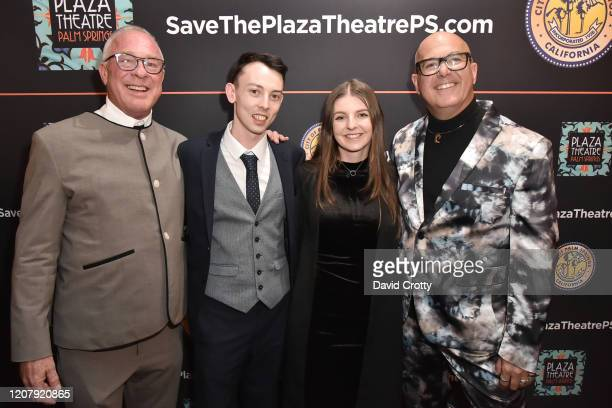 Todd Hughes James Peter Moffatt Katie Thompson and P David Ebersole attend the House Of Cardin Special Screening At Palm Springs Modernism Week at...