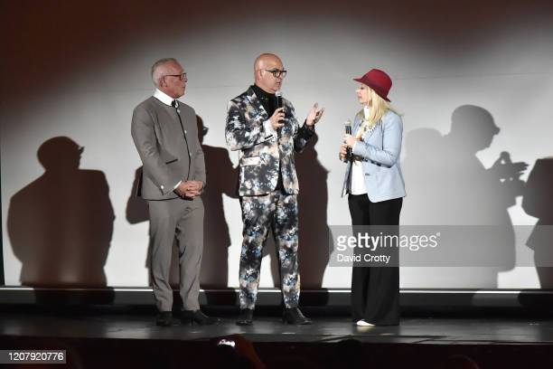 Todd Hughes P David Ebersole and Alison Martino attend the House Of Cardin Special Screening At Palm Springs Modernism Week at The Plaza Theater on...