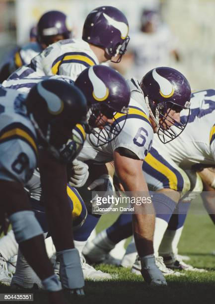 Todd Kalis Guard for the Minnesota Vikings during the National Football Conference Central game against the Green Bay Packers on 28 October 1990 at...
