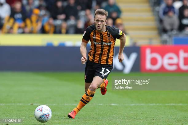 Todd Kane of Hull City runs with the ball during the Sky bet Championship match between Hull City and Reading at the KCOM Stadium on April 06 2019 in...
