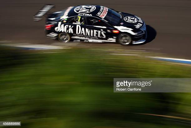 Todd Kelly drives the Jack Daniels Racing Nissan during practice for the Bathurst 1000 which is round 11 of the V8 Supercars Championship Series at...