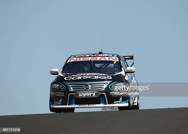 Todd Kelly drives the Nissan Motorsport Nissan during practice for the Bathurst 1000 which is race 25 of the V8 Supercars Championship at Mount...