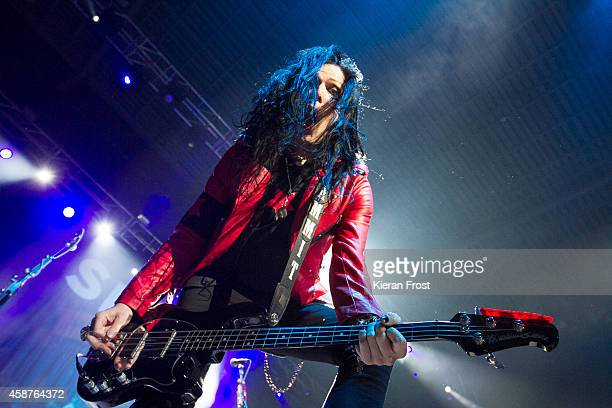 Todd Kerns performs on stage at 3Arena on November 10, 2014 in Dublin, Ireland.