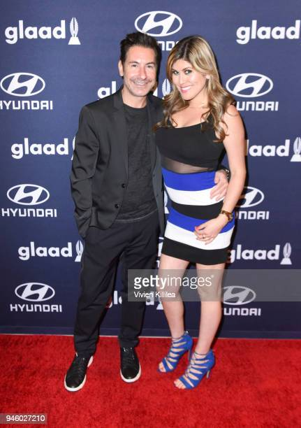 Todd Krim and Claudia Kosters attend the 29th Annual GLAAD Media Awards at The Beverly Hilton Hotel on April 12 2018 in Beverly Hills California