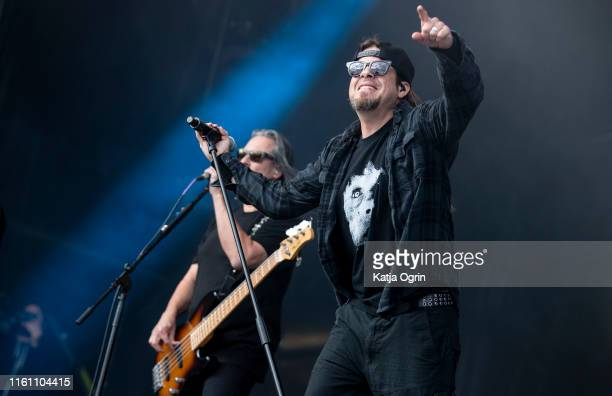 Todd La Torre of Queensryche performs on stage during Bloodstock Festival 2019 at Catton Hall on August 11, 2019 in Burton Upon Trent, England.