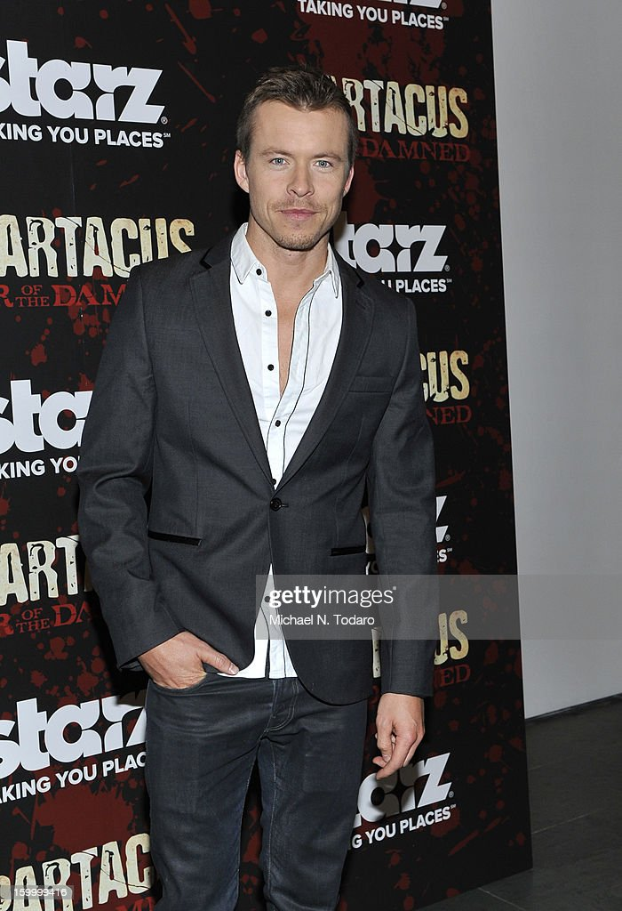 Todd Lasance attends the 'Spartacus: War Of The Damned' series finale premiere at The Museum of Modern Art on January 24, 2013 in New York City.