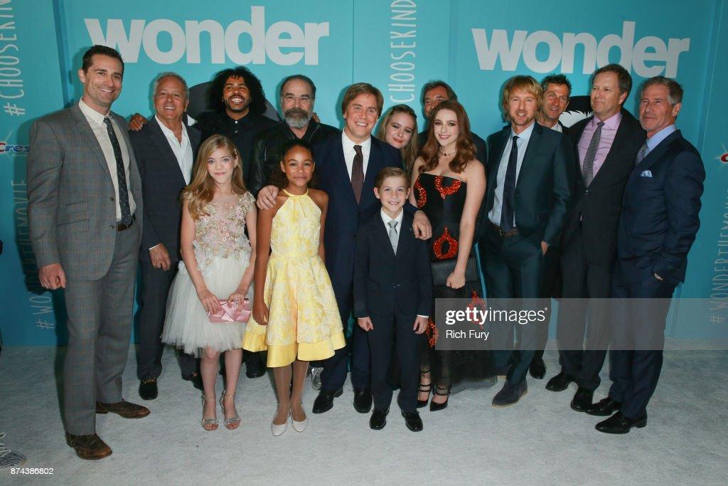 "Premiere Of Lionsgate's ""Wonder"" - Red Carpet : News Photo"