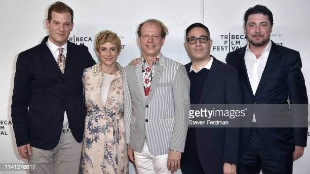 Todd Lubin Sara Bernstein Bruce Cohen Jason Weinberg and Jay Peterson attend a screening of Wig during the Tribeca Film Festival at Spring Studio on...