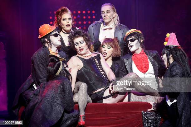 Bianca and Sean Selby attends the opening of the Rocky Horror Show at Her Majesty's Theatre on July 18 2018 in Melbourne Australia