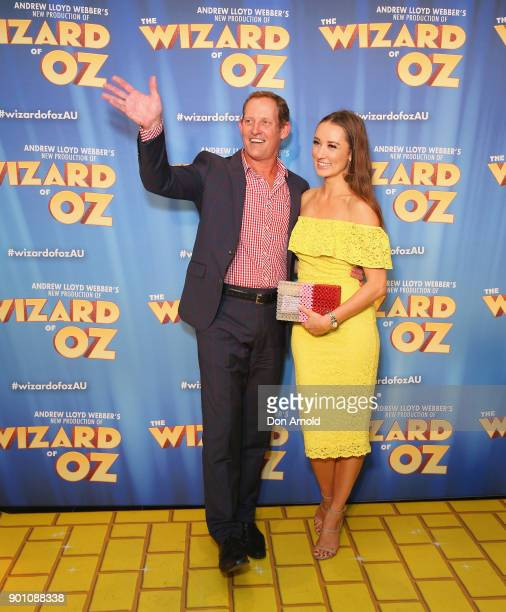 Todd McKenney and Claire Lyon attends The Wizard of Oz Sydney Premiere at Capitol Theatre on January 4 2018 in Sydney Australia