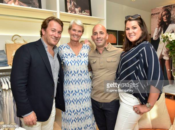 Todd Meadow Betsy Berry Paul Delzatto and Caitlin Donohoe attend the Modern Luxury Sam Edelman Summer Fashion Event on July 12 2018 in Southampton...