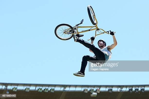 Todd Meyn during the 2015 Nitro Circus preshow practice at Westpac Stadium on January 23 2015 in Wellington New Zealand