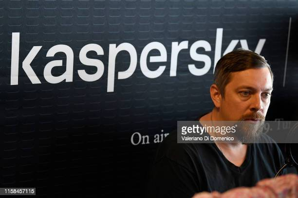 Todd Miller of Apollo 11 attend M24 pop up radio at Kaspersky Lounge during Starmus V A Giant Leap sponsored by Kaspersky at Samsung Hall on June 26...