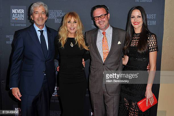 Todd Morgan actress Rosanna Arquette actor David Arquette and Christina McLarty attend the 2016 Los Angeles Dinner What You Do Matters presented by...