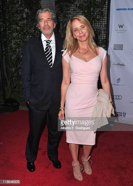 Todd Morgan and actress Rosanna Arquette arrive to the Geffen Playhouse's Annual Backstage at the Geffen Gala on May 2 2011 in Los Angeles California