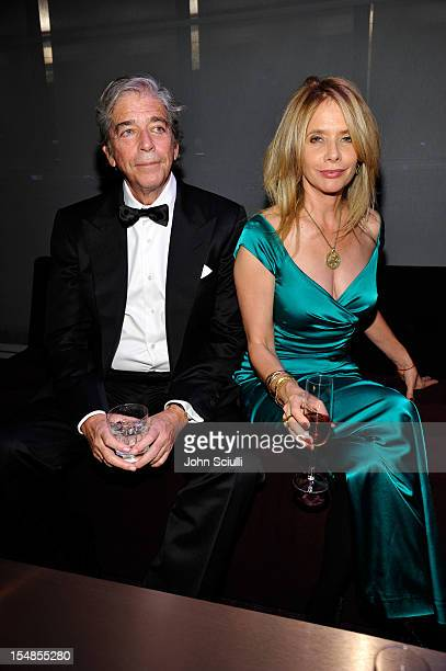 Todd Morgan and Actress Rosanna Arquette attend LACMA 2012 Art Film Gala Honoring Ed Ruscha and Stanley Kubrick presented by Gucci at LACMA on...