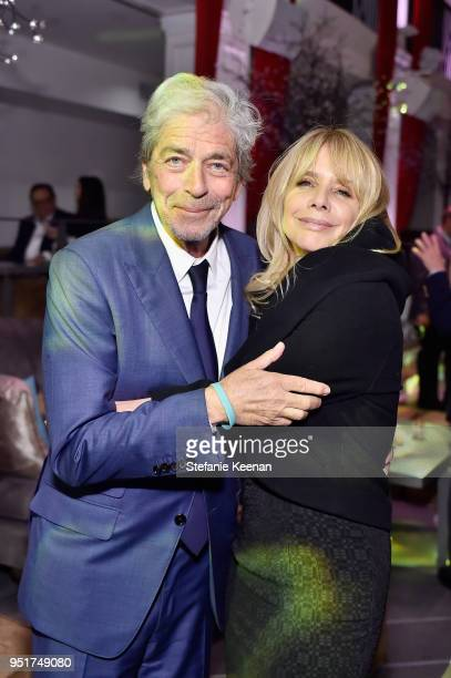 Todd Morgan and Rosanna Arquette attend the 2018 TCM Classic Film Festival Opening Night After Party on April 26 2018 in Hollywood California 350671