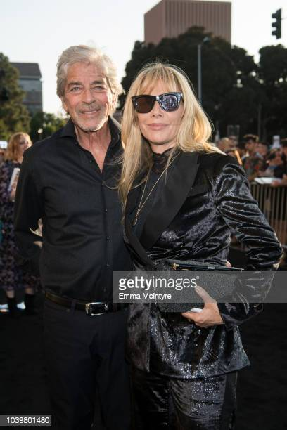 Todd Morgan and Rosanna Arquette attend the premiere of Warner Bros Pictures' A Star Is Born at The Shrine Auditorium on September 24 2018 in Los...