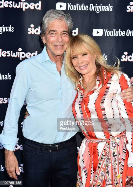 Todd Morgan and Rosanna Arquette attend the YouTube Originals 'Sideswiped' screening at the YouTube Space on July 27 2018 in Los Angeles California
