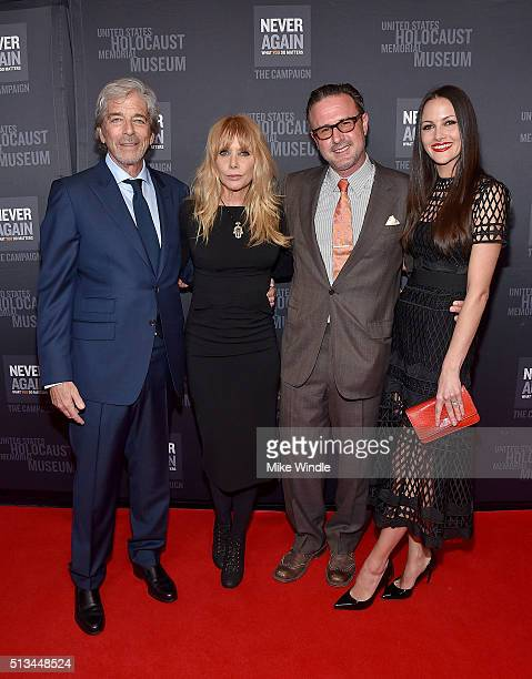 Todd Morgan Rosanna Arquette David Arquette and Christina McLarty attend the United States Holocaust Memorial Museum presents 2016 Los Angeles Dinner...
