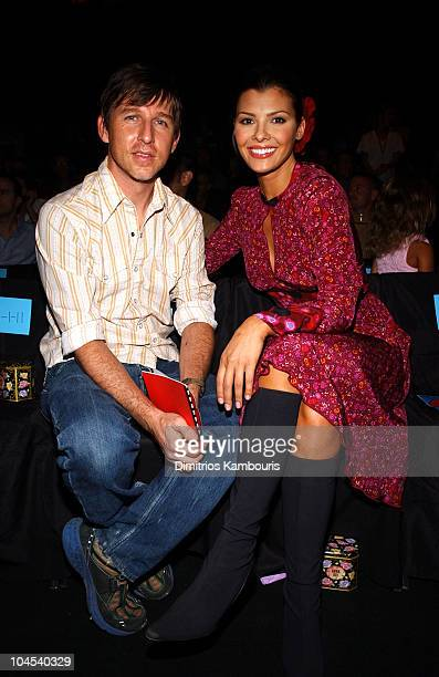 Todd Oldham Ali Landry during MercedesBenz Fashion Week Spring Collections 2003 Anna Sui Front Row at Bryant Park in New York City New York United...