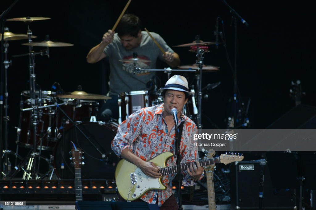 Todd Park Mohr of Big Head Todd and the Mosters performs during The Rocky Mountain Way honoring inductee's into the Colorado Music Hall of Fame event at Fiddler's Green Amphitheatre on August 13, 2017 in Englewood, Colorado.