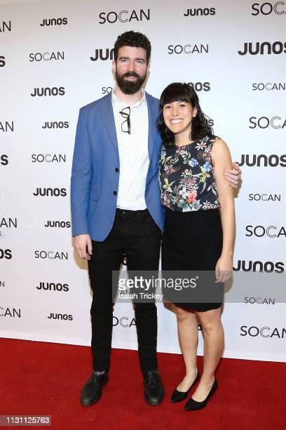 Todd Pentney and Allison Au arrive on the red carpet for the 2019 Juno Gala Dinner and Awards at the London Convention Centre on March 16 2019 in...