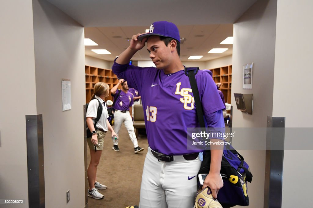 0e21db2ba Todd Peterson of Louisiana State University holds his hat in the ...