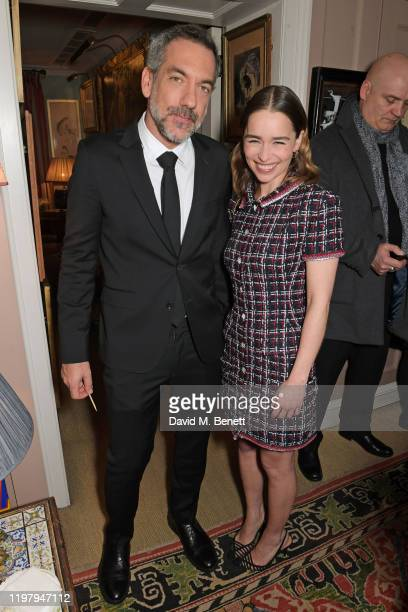 Todd Phillips and Emilia Clarke attend the Charles Finch & CHANEL Pre-BAFTA Party at 5 Hertford Street on February 1, 2020 in London, England.