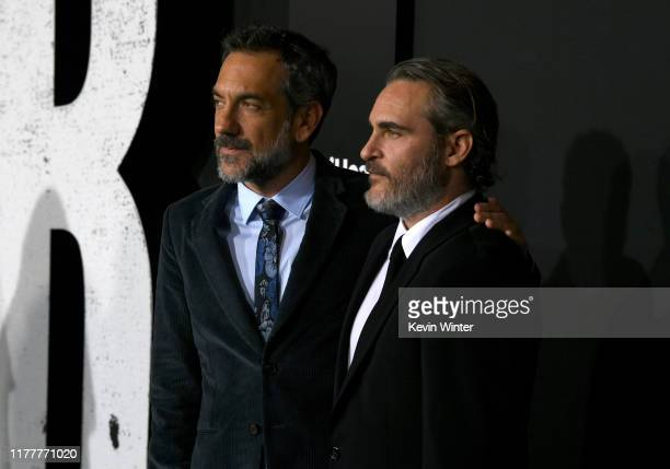 Todd Phillips and Joaquin Phoenix attend the premiere of Warner Bros Pictures Joker on September 28 2019 in Hollywood California