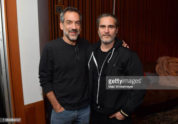Todd Phillips and Joaquin Phoenix attend the release party to celebrate Rain Phoenix's new album RIVER hosted by Joaquin Phoenix at Jim Henson...