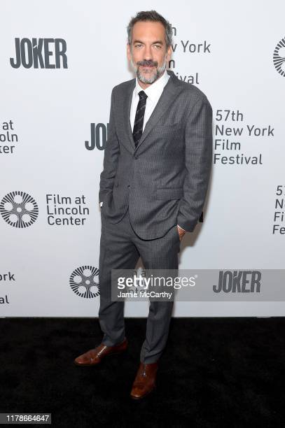 Todd Phillips attends the 57th New York Film Festival Joker Arrivals at Alice Tully Hall Lincoln Center on October 02 2019 in New York City