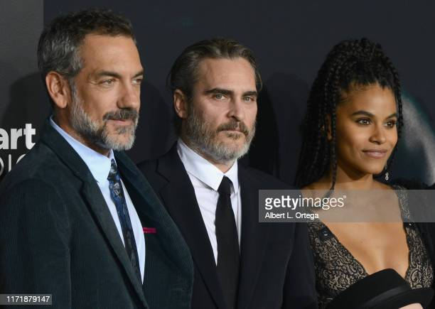 "Todd Phillips, Joaquin Phoenix and Zazie Beetz arrive for the premiere of Warner Bros Pictures ""Joker"" held at TCL Chinese Theatre IMAX on September..."