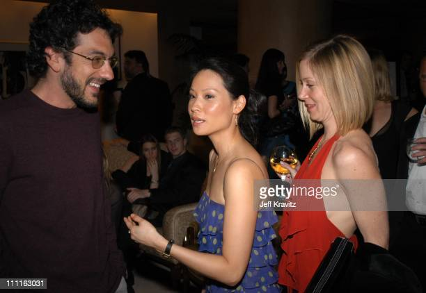 Todd Phillips Lucy Liu and Christina Applegate during Miramax Max Awards at St Regis Hotel in Los Angeles CA United States