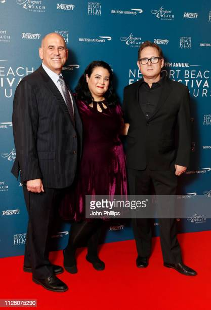 Todd Quartararo Jenelle Riley and Gregg Schwenk attends the Newport Beach Film Festival UK honours event at The Langham Hotel on February 07 2019 in...