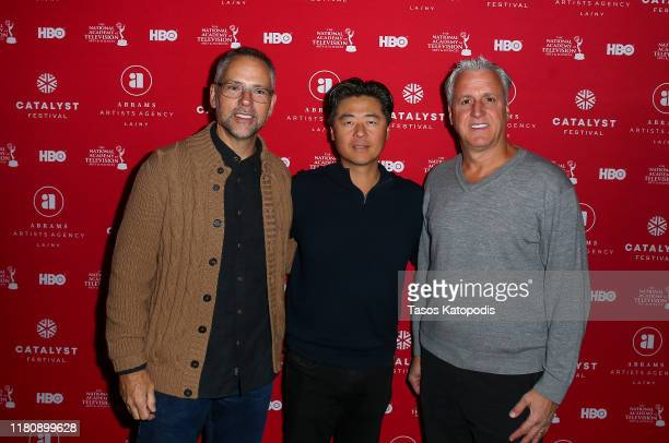 Todd Quinn Brian Cho and Robert Attermann attend the Catalyst Content Awards Gala on October 13 2019 in Duluth Minnesota