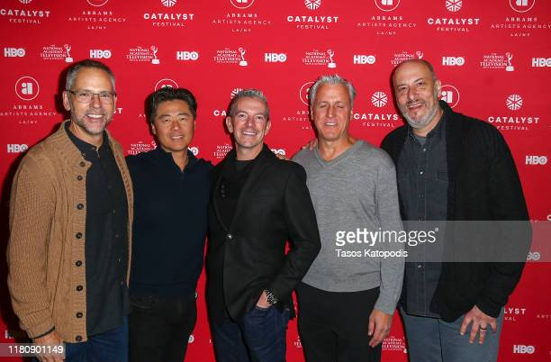 Todd Quinn Brian Cho Chris Elliot Robert Attermann and Adam Bold attend the Catalyst Content Awards Gala on October 13 2019 in Duluth Minnesota