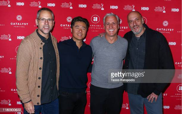 Todd Quinn Brian Cho Robert Attermann and Adam Bold attend the Catalyst Content Awards Gala on October 13 2019 in Duluth Minnesota