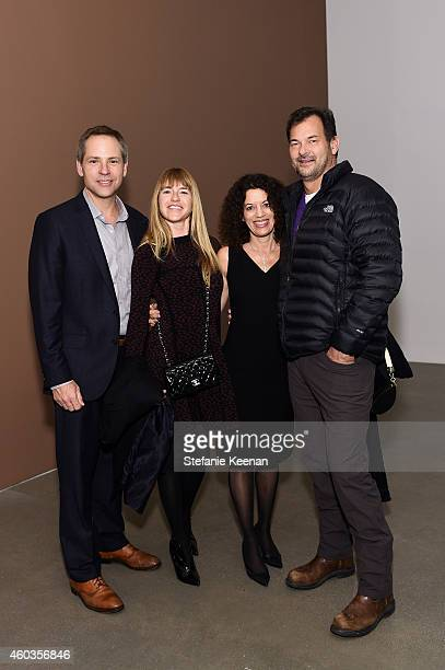 Todd Quinn Heather Harmon Laurie Ziegler and Phil Mercado attend Gillian Wearing Opening on December 11 2014 in Los Angeles California