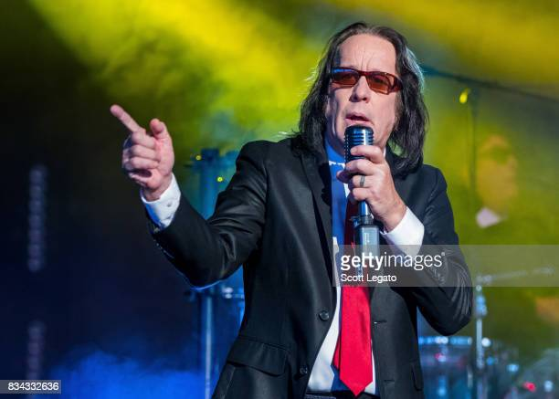 Todd Rundgren performs during Yestival at DTE Energy Music Theater on August 17 2017 in Clarkston Michigan