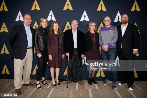 Todd S Purdum Dee Dee Myers Wendy Ettinger DA Pennebaker Chris Hegedus James Carville and RJ Cutler arrive for the Academy Of Motion Picture Arts And...
