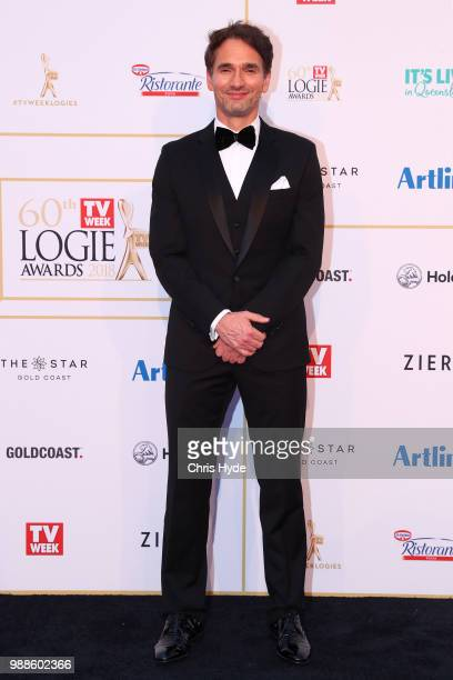 Todd Sampson arrives at the 60th Annual Logie Awards at The Star Gold Coast on July 1 2018 in Gold Coast Australia