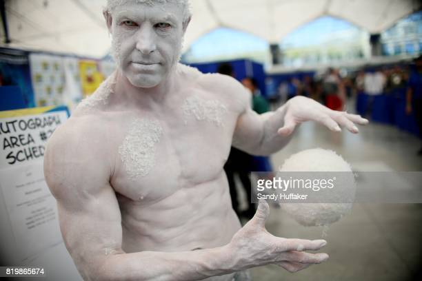 Todd Schmidt dressed as the Icemang9 at the San Diego Convention Center during Comic Con International on July 20 2017 in San Diego California Comic...